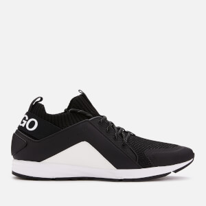 HUGO Men's Hybrid Runner Style Trainers - Black