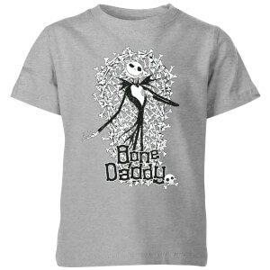 The Nightmare Before Christmas Jack Skellington Bone Daddy Kids' T-Shirt - Grey
