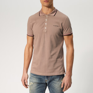 Diesel Men's Randy Broken Polo Shirt - Pink