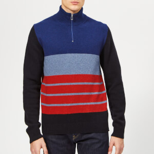 PS Paul Smith Men's Zip Neck Sweatshirt - Grey Blue