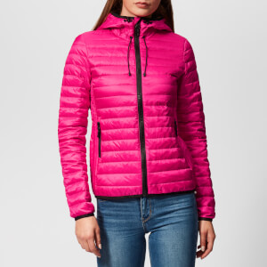 Superdry Women's Core Down Hooded Jacket - Pacific Pink