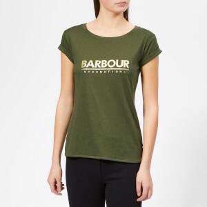Barbour International Women's Court T-Shirt - Moss Green