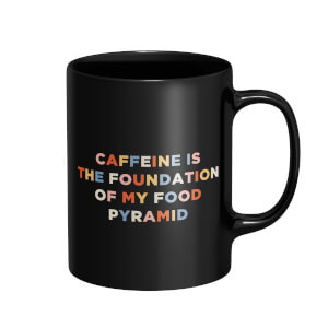 Caffeine Is The Foundation Of My Food Pyramid Mug - Black