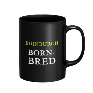 Edinburgh Born and Bred Mug - Black