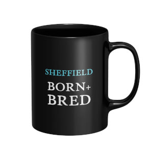 Sheffield Born + Bred Mug - Black