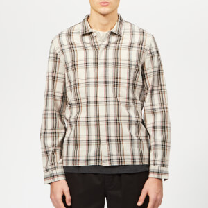Folk Men's Patch Shirt - Oatmeal Multi