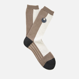 Folk Men's Block Socks - Mortar
