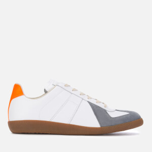 Maison Margiela Men's Replica Low Top Trainers - White/Orange