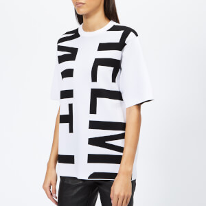 3d59322b0857 Helmut Lang Women's Helmut Logo T-Shirt Logo - Optic White/Black