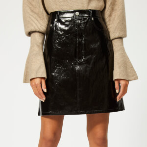 a41624047 Helmut Lang Women's Patent Leather Five Pocket Skirt - Black