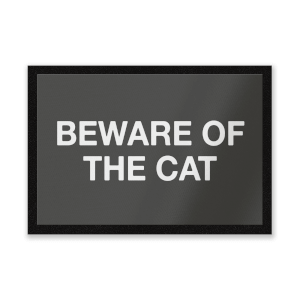 Beware Of The Cat Entrance Mat
