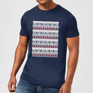 Star Wars AT-AT Pattern Men's Christmas T-Shirt - Navy