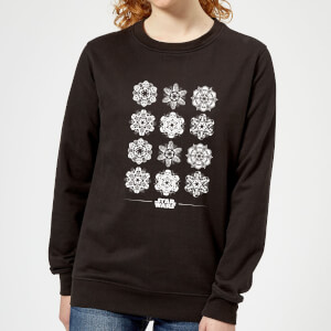 Star Wars Snowflake Women's Christmas Sweatshirt - Black