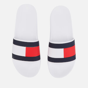 Tommy Hilfiger Men's Essential Flag Pool Slide Sandals - White