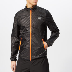 Superdry Sport Men's Active Convertible Jacket - Black Reflective Diagonal