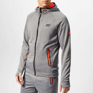 Superdry Sport Men's Winter Training Zip Hoody - Black Grit