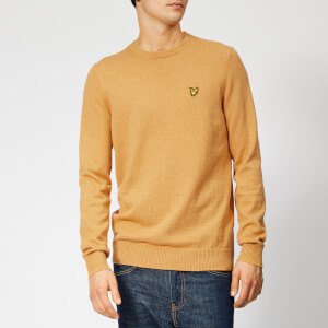 Lyle & Scott Men's Crew Neck Cotton Merino Jumper - Honey Marl