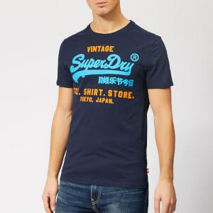 Superdry Men's Shirt Shop Duo Lite T-Shirt - Marina Navy