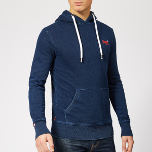 Superdry Men's Orange Label Lite Hoodie - Dark Marine Indigo