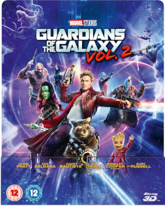Guardianes de la Galaxia Vol. 2 3D (incluye Blu-ray 2D) - Steelbook Edición Lenticular Exclusivo de Zavvi (Edición UK)
