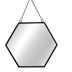 Sass & Belle Monochrome Black Hexagon Mirror