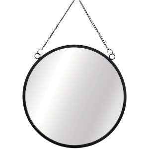 Sass & Belle Monochrome Black Round Mirror