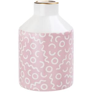 Sass & Belle Memphis Modern Pastel Pink Pattern Vase
