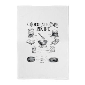 Chocolate Cake Recipe Cotton Tea Towel