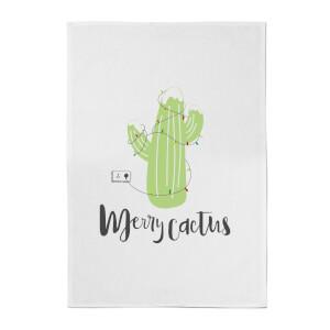 Merry Cactus Cotton Tea Towel