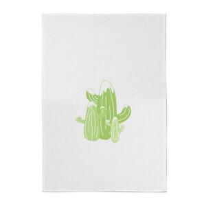 Cacti In Snow Cotton Tea Towel
