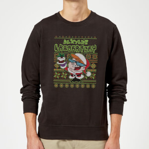 Dexter's Lab Pattern Christmas Sweatshirt - Black