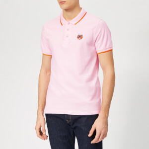 KENZO Men's Tipped Polo Shirt - Pastel Pink