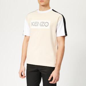KENZO Men's Colour Block T-Shirt - Cream