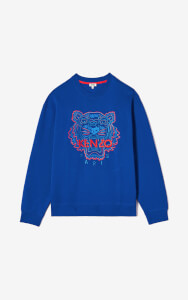 KENZO Men's Icon Neon Colour Sweatshirt - Blue