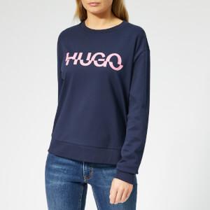 HUGO Women's Nicci Logo Sweatshirt - Open Blue