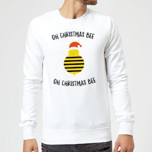Oh Christmas Bee Oh Christmas Bee Christmas Sweatshirt - White