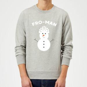 Fro-Man Christmas Sweatshirt - Grey