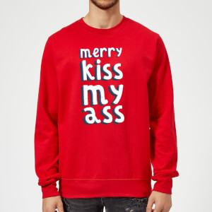 Merry KissMyAss Christmas Sweatshirt - Red