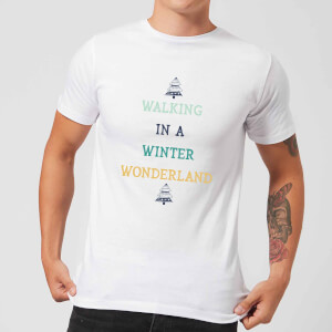 Walking In A Winter Wonderland Men's Christmas T-Shirt - White