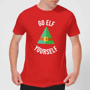 Go Elf Yourself Men's Christmas T-Shirt - Red