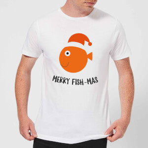 Merry Fish-Mas Men's Christmas T-Shirt - White