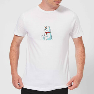 Unicorn Snowman Men's Christmas T-Shirt - White