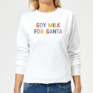 Soy Milk For Santa Women's Christmas Sweatshirt - White
