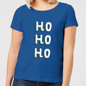 Ho Ho Ho Women's Christmas T-Shirt - Royal Blue