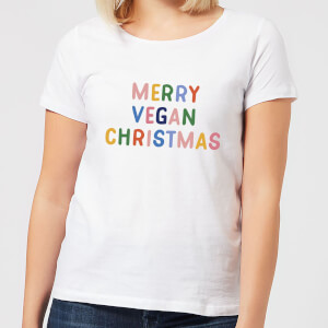 Merry Vegan Christmas Women's Christmas T-Shirt - White