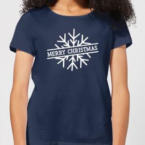Merry Christmas Women's Christmas T-Shirt - Navy
