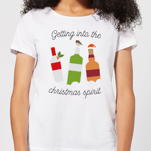 Getting Into The Christmas Spirit Women's Christmas T-Shirt - White