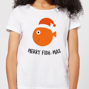 Merry Fish-Mas Women's Christmas T-Shirt - White