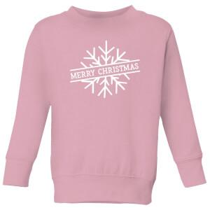 Merry Christmas Kids' Christmas Sweatshirt - Baby Pink