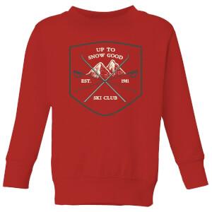 Up To Snow Good Kids' Christmas Sweatshirt - Red